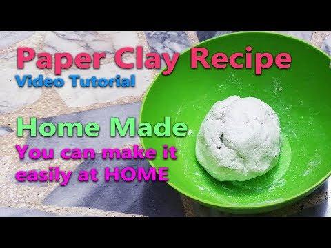Diy Paper Clay recipe - Air Dry Clay - No Cracking