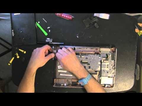 HP DV3 take apart, disassemble, how to open disassembly