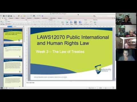 LAWS12070 Week 3: The Law of Treaties
