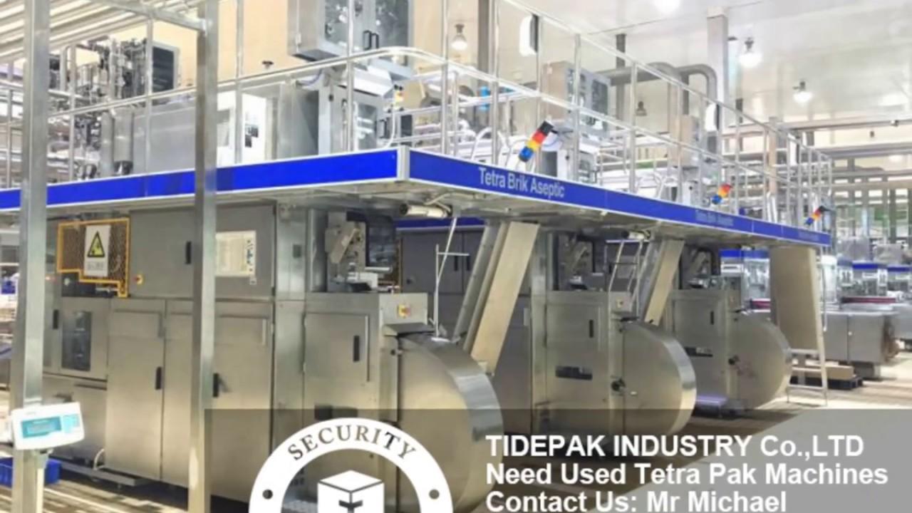 Tetra Pak Filling Machine TBA 19 200s Slim 125 Slim 250 Slim Second Hand  Filling Line Price Tetrapak by TIDEPAK INDUSTRY CO ,LTD