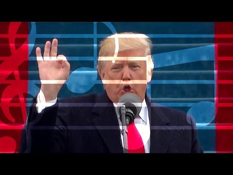 Trump's inauguration speech - The hidden music