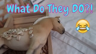 🐴What Do My Schleich Horses Do When I Am Gone?! 😂FIRST DAY TV