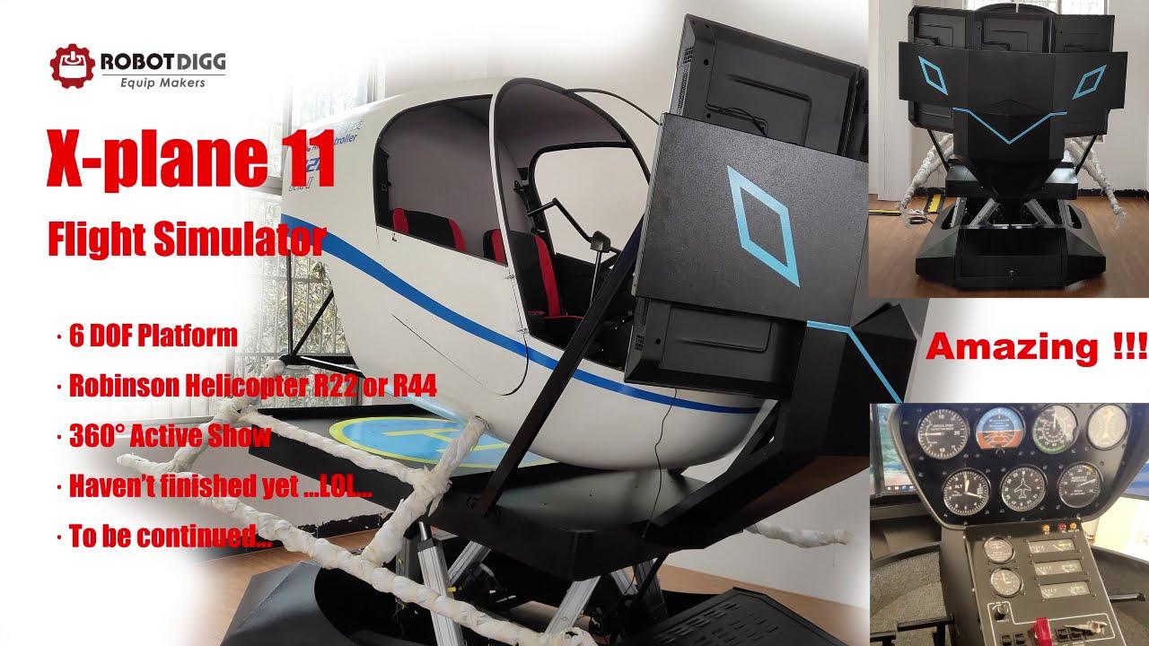 X-Plane 11 Flight Simulator with 6 DOF Platform in Robinson