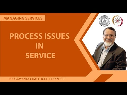 Process Issues in Service