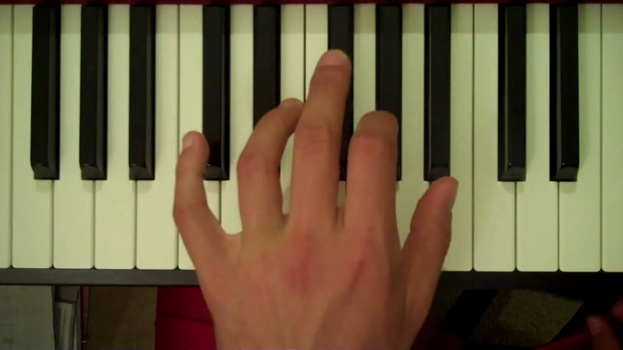 E Chord Piano Left Hand How To Play a C7 Chord...