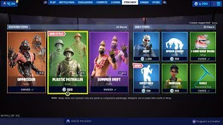 Fortnite New Toy Troopers,Plastic Patroller Style Skin & Toy Soldier Wrap Infectious Emote