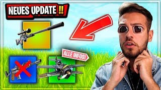 *ALLE* Fortnite 7.13 UPDATES 😱 Silenced SNIPER,  Burst RAUS, Neue Location, FLUGZEUG Update!