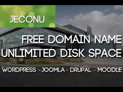 How to get a Free Domain Name, WordPress Web Hosting, and Unlimited Disk Space! - Jeconu
