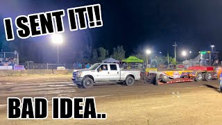 TRACTOR PULLING WITH MY F250 (OUCH)