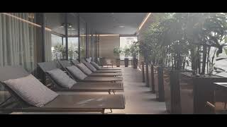 New relaxing areas & sauna area