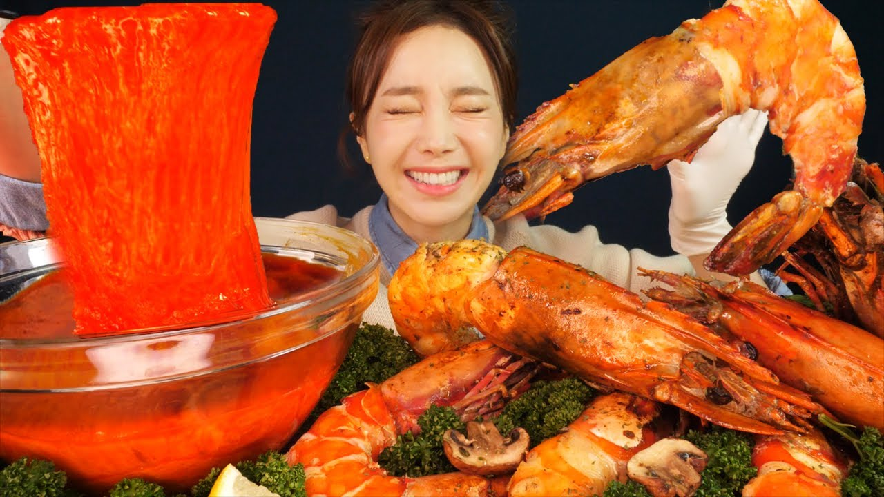 [Mukbang ASMR] 꿀조합💖대왕 킹타이거새우🦐매콤불닭치즈퐁듀🧀 Giant KingtigerShrimp&Spicy Cheese Fondue Eatingshow Ssoyoung