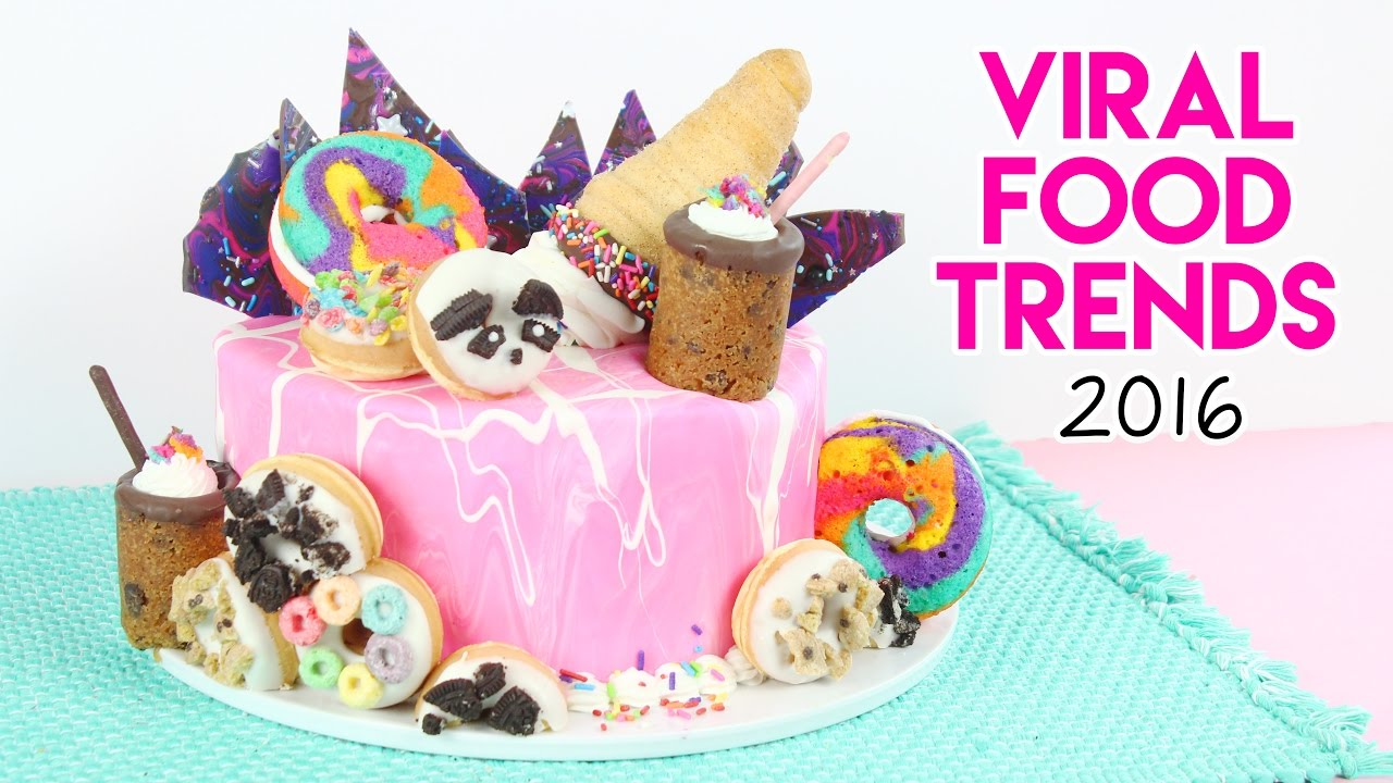 viral food trends of 2016 cake rainbow donuts cookie shots donut cones and more youtube. Black Bedroom Furniture Sets. Home Design Ideas