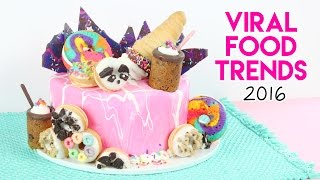 VIRAL Food Trends of 2016 Cake! 😱💖 Rainbow Donuts, Cookie Shots, Donut Cones, and more!