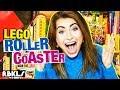 Giant LEGO Roller Coaster (120 ft Long!) - REBRICKULOUS