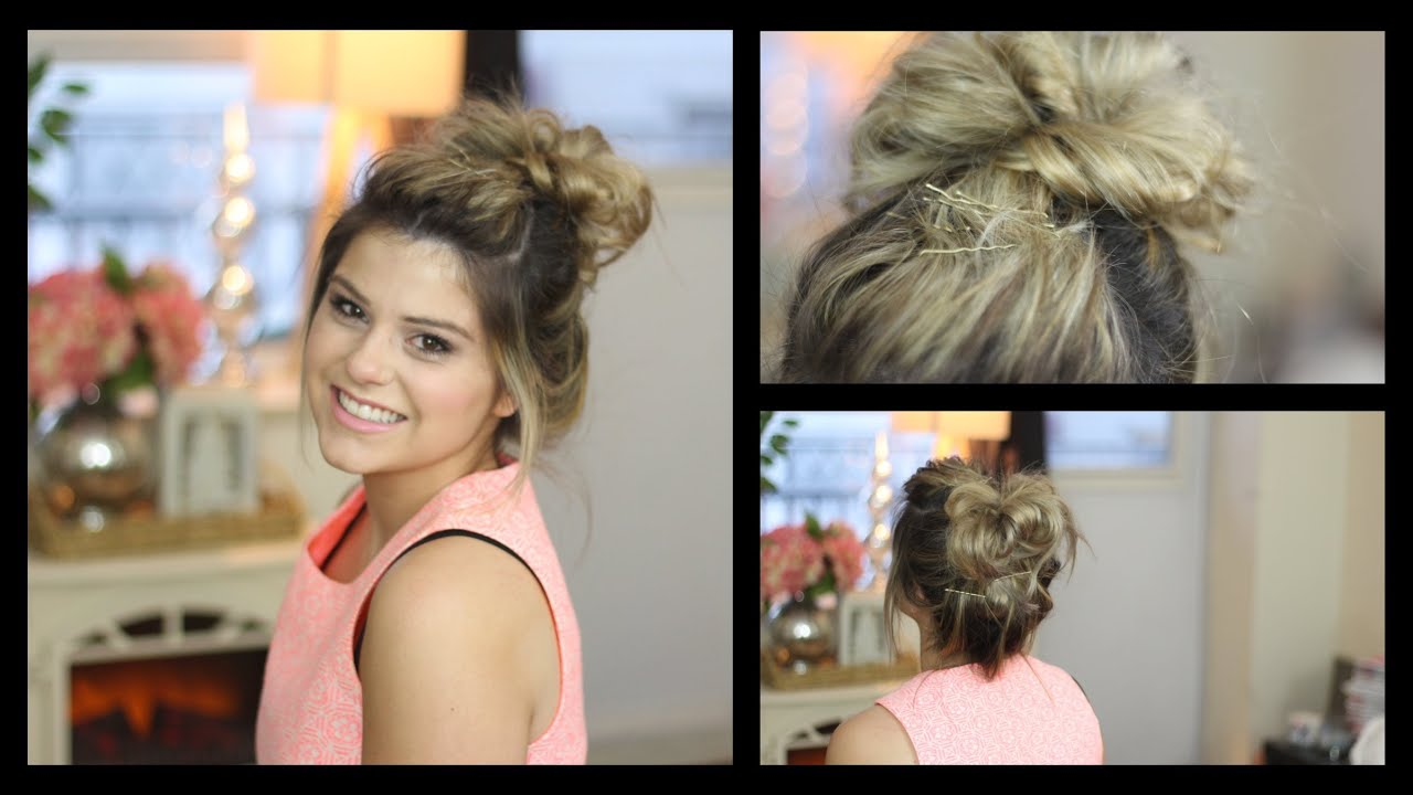 Messy bun tutorial using hair extensions youtube pmusecretfo Images