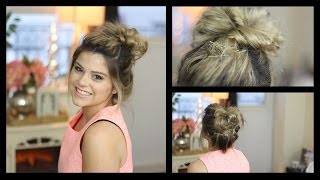 Messy Bun Tutorial [using Hair Extensions!!] Thumbnail