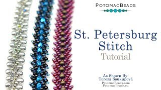 How to make the St. Petersburg Stitch - DIY Jewelry Making Tutorial by PotomacBeads