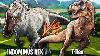 INDOMINUS REX vs TYRANNOSAURUS REX!   Jurassic World Evolution #17
