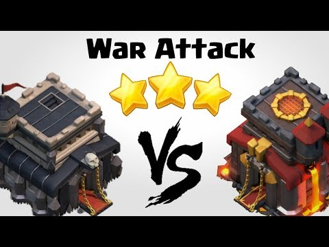 TH9 vs TH10   Best Town Hall 9 War Attack Strategy   Clash of Clans INDIA