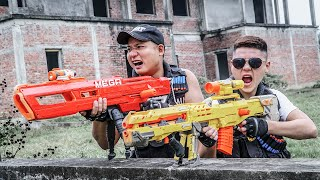 LTT Game Nerf War : Suicide Squad Warriors SEAL X Nerf Guns Fight Braum Crazy Shotgun Mega
