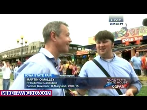 Martin O'Malley Makes A Strong Impression At The Iowa State Fair!