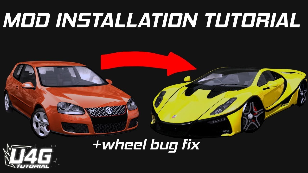 How to install car mods for nfs most wanted and wheel bug fix u4g