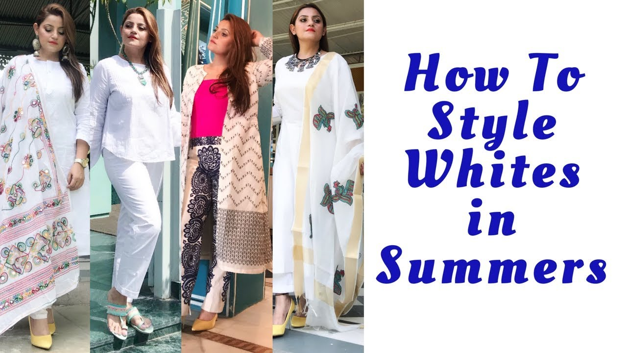 How To Style Whites In Summers | Ethnic & Fusion Comfortable Summer Wear | #indianethnic #whites