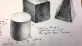 Gloria Rabinowitz - High School Art Lesson: Beginning Drawing (still-life) Part 2
