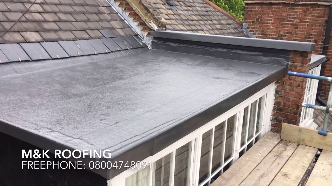 M Amp K Roofing N65 Grp New Fibreglass Roof Installation