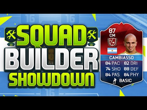 FIFA 16 SQUAD BUILDER SHOWDOWN!!! LEGEND iMOTM CAMBIASSO!!!