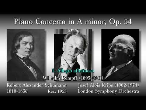 Schumann: Piano Concerto, Kempff & Krips (1953) シューマン ピアノ協奏曲 ケンプ&クリップス