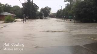 Dramatic Toronto flooding videos from The Weather Network (July 8, 2013)