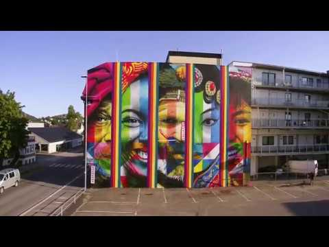 Art for all in the world in Sandefjord, Norway.