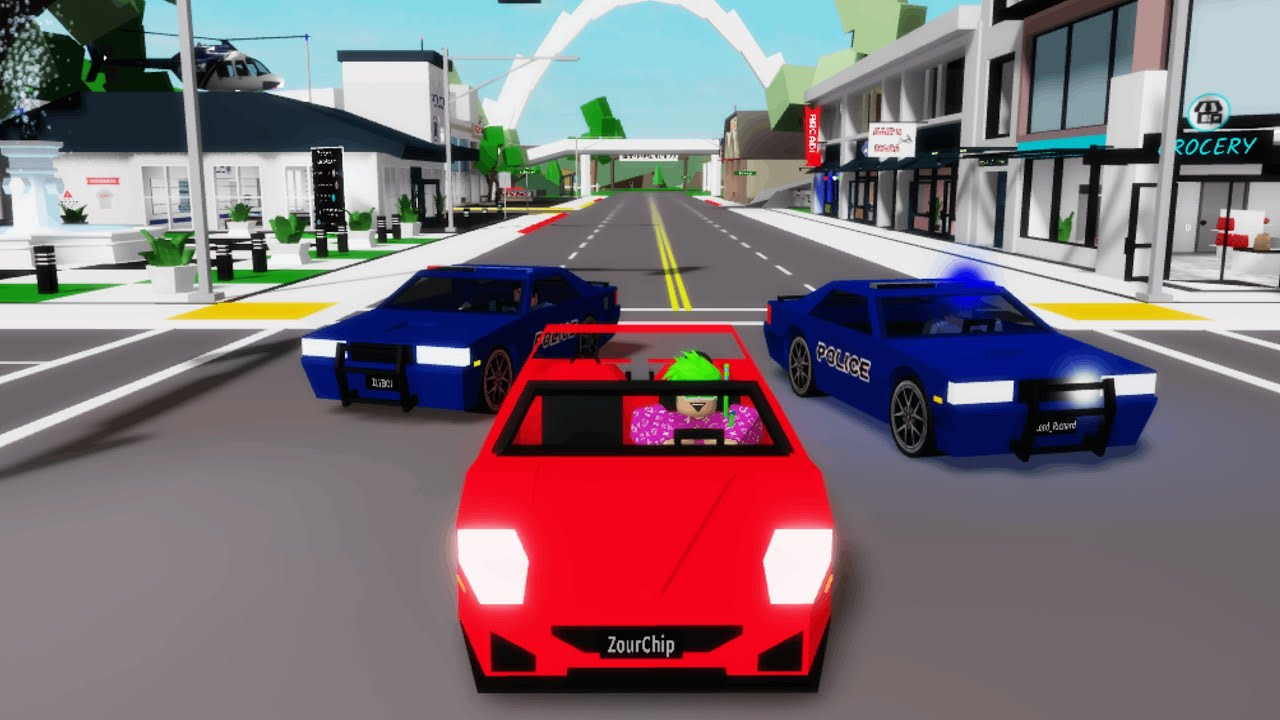 POLICE CHASE IN BROOKHAVEN! (Roblox)