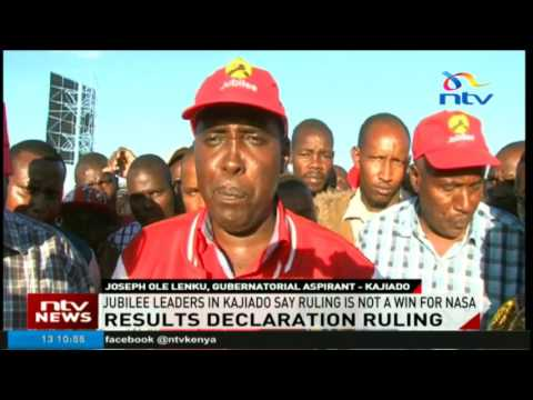 Kajiado leaders say presidential results ruling is not a win for NASA