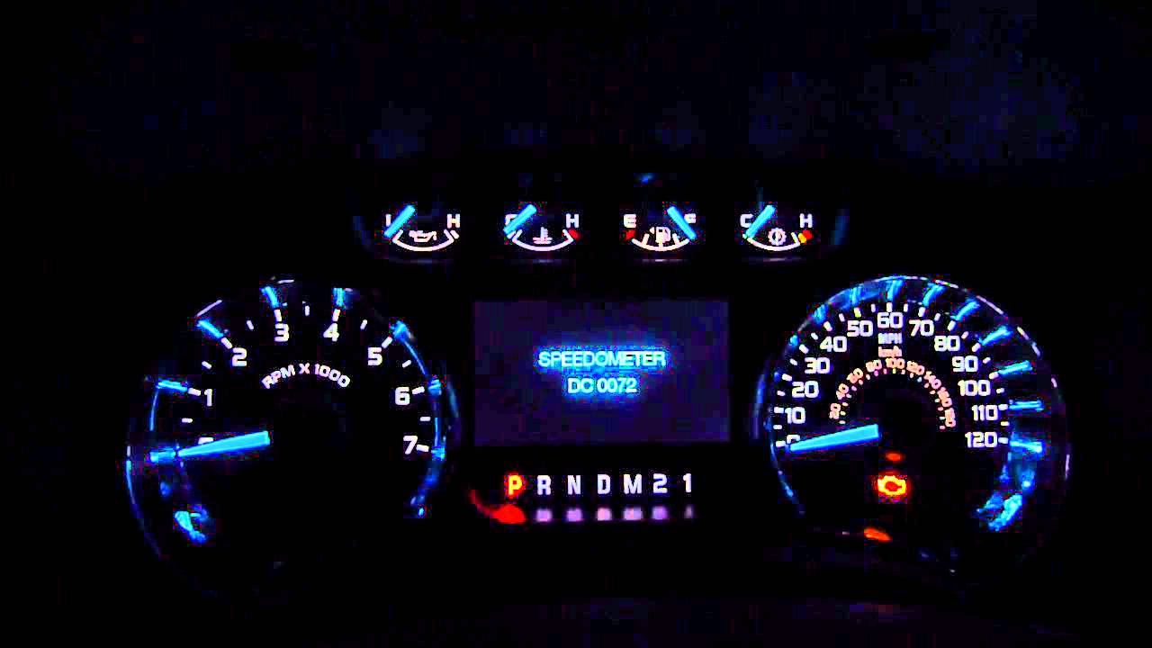 ford   gauge led test mode youtube