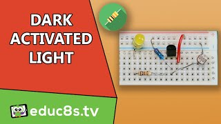 Electronic Circuit: Dark Activated LED light with photoresistor