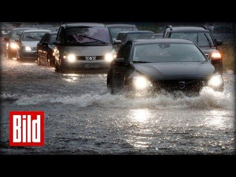 Jahrhundert-Regen in Berlin - So hat das (Un-) Wetter die Haupstadt im Griff