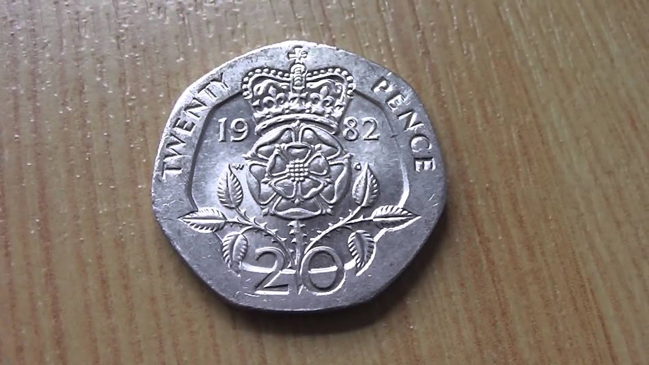 Elizabeth Ii 20 Pence Coin From 1982 Youtube