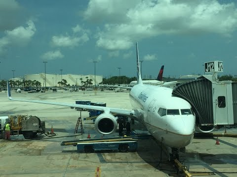 Copa Airlines (Star Alliance) CM431 MIA-PTY Boarding, Pushback, Safety Video Takeoff at MIA