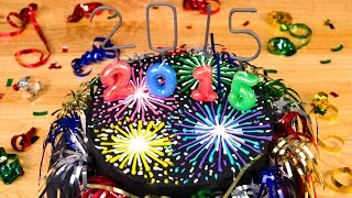 Fireworks New Year's Cake From Cookies Cupcakes And Cardio