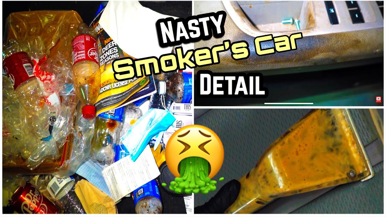 Deep Cleaning A SMOKER'S Filthy Car |Disaster Car Detailing | Insane Interior Transformation! Part 1