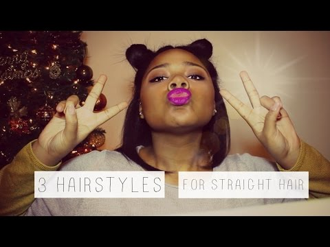 3 Hairstyles for Straightened Natural Hair!