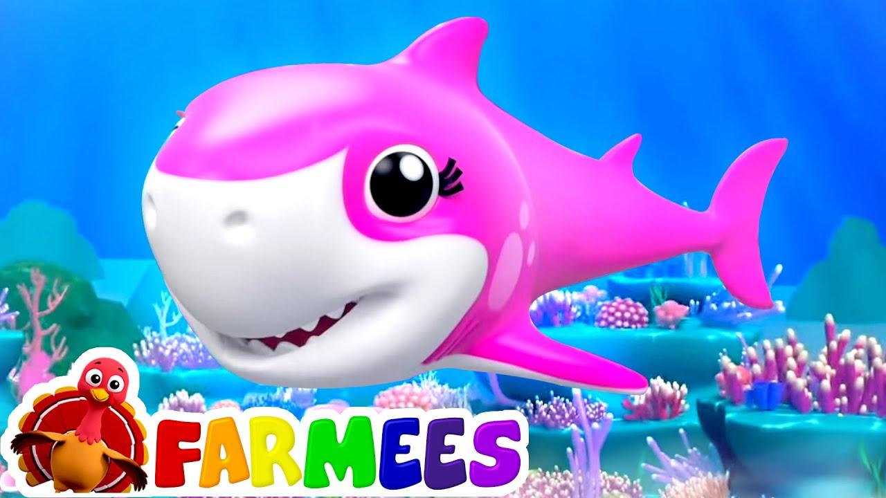 Laughing Baby Shark | Daddy Shark | Shark Family Fun Song + Nursery Rhymes & Kids Songs - Farmees