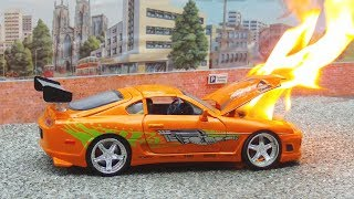 Toy Supra 2jz  Engine Blows Up || Ends In Flames
