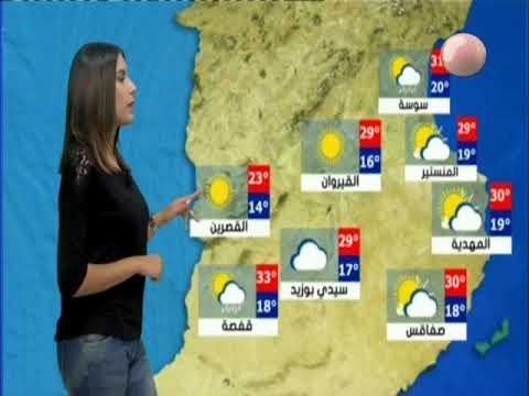 النشرة الجوية ليوم الجمعة 21 سبتمبر 2018 - قناة نسمة