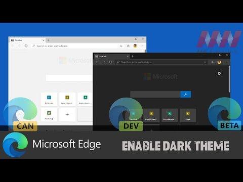 How to Enable Dark Theme on Chromium Version of Microsoft Edge