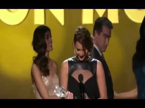 Jennifer Lawrence winning Best Actress in An Action Movie @ 18th Critics Choice Movie Awards 2013