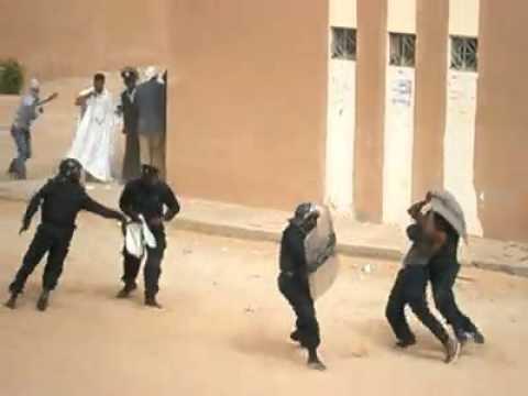 12 Apr 2012 Mauritania Uni Students Fight Back