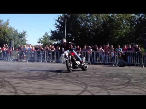 Humberto Ribeiro stunt on Husqvarna Nuda 900R by Maxxess Arras &  BMW Europ'Touring